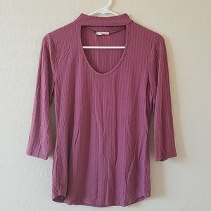 Tops - Mauve key hole top